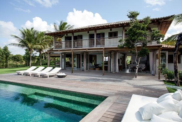 casa de veraneo con piscina