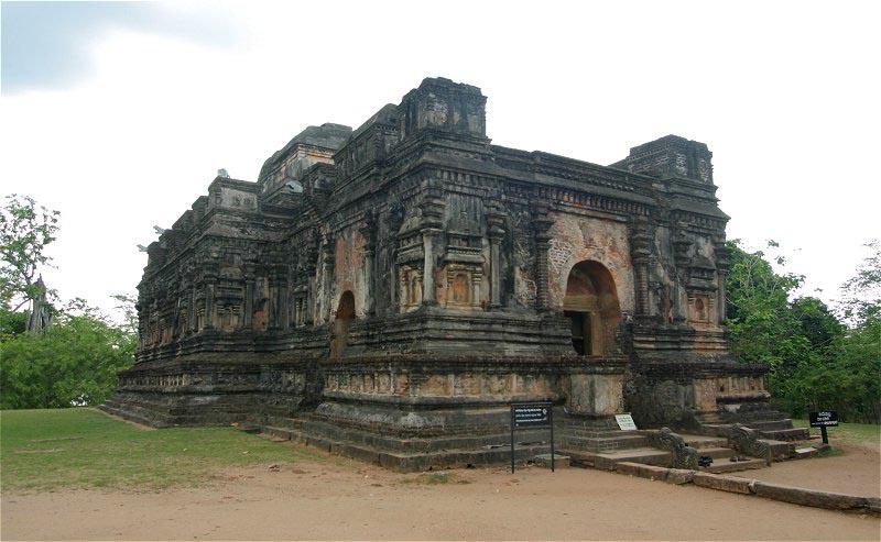 Templos en Polonnaruwa en Sri Lanka