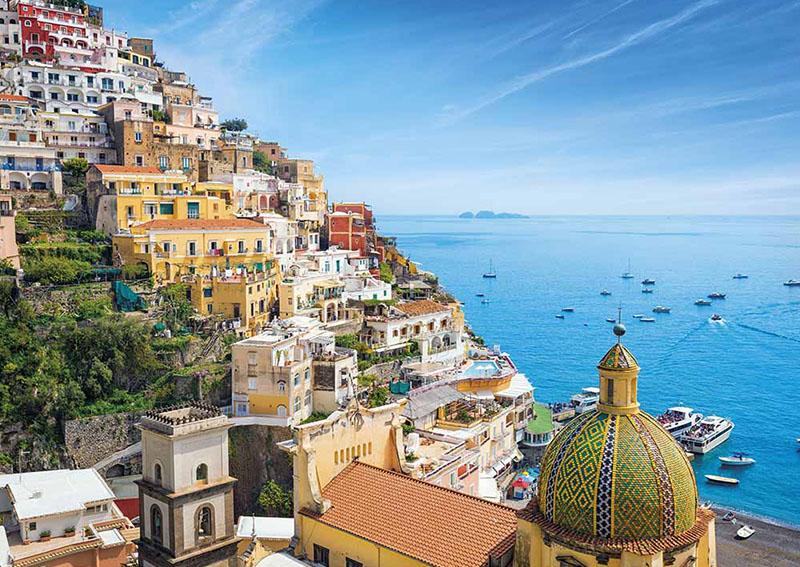 Positano en la costa Amalfitana
