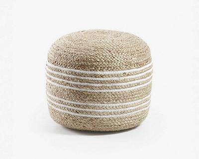 puf de fibra natural alto