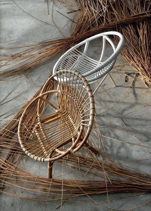 Fabricación de sillas de ratán