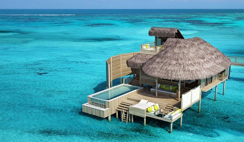 resort de lujo en el atolón laamu