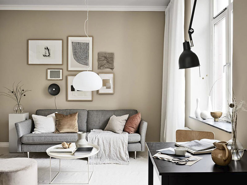 plaid para decorar el sofá del salón