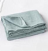 sábana de lino de color verde