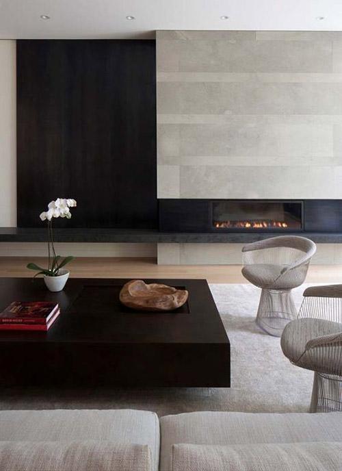 Salón de estilo moderno con una decoración minimalista