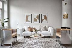 salón de color gris
