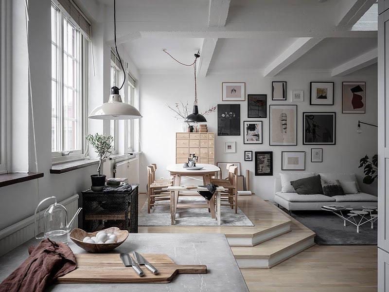 cómo decorar un salón blanco