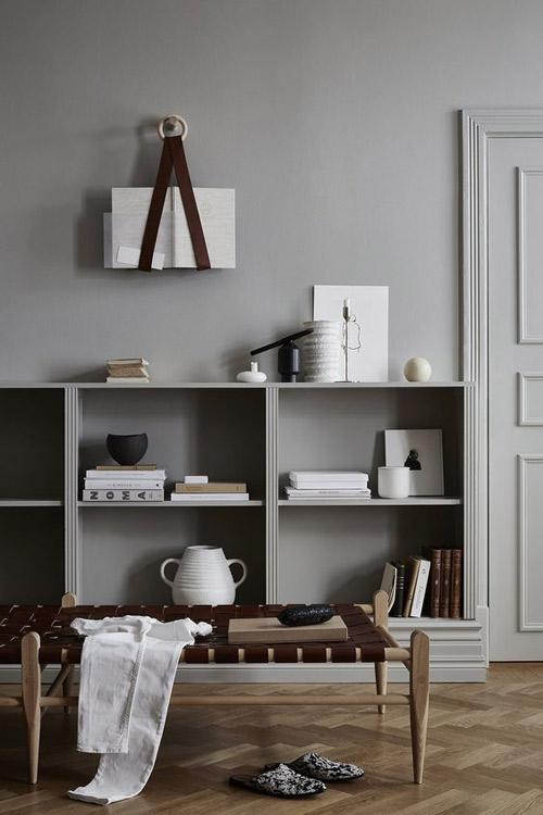 Tonos grises para decorar apartamentos