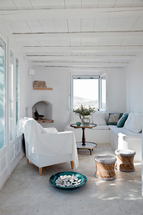 salón de una casa tipica griega