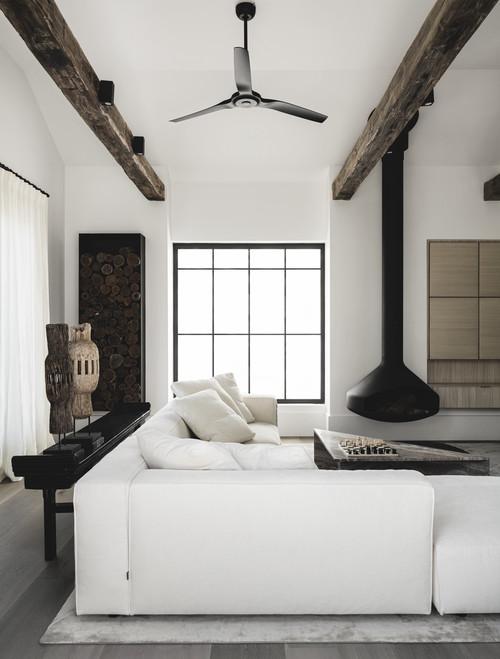 Muebles de diseño en un salón de estética minimalista