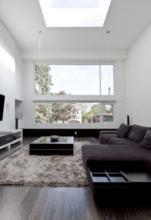 Un salón de estilo moderno