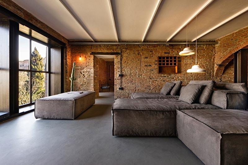 interior de una casa de campo