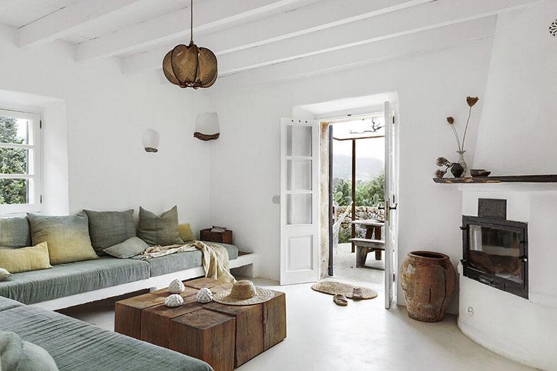 decoración mediterránea de casas de campo