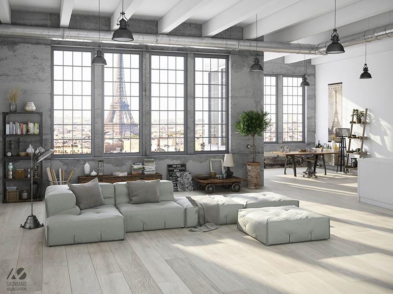 apartamento loft de estilo industrial