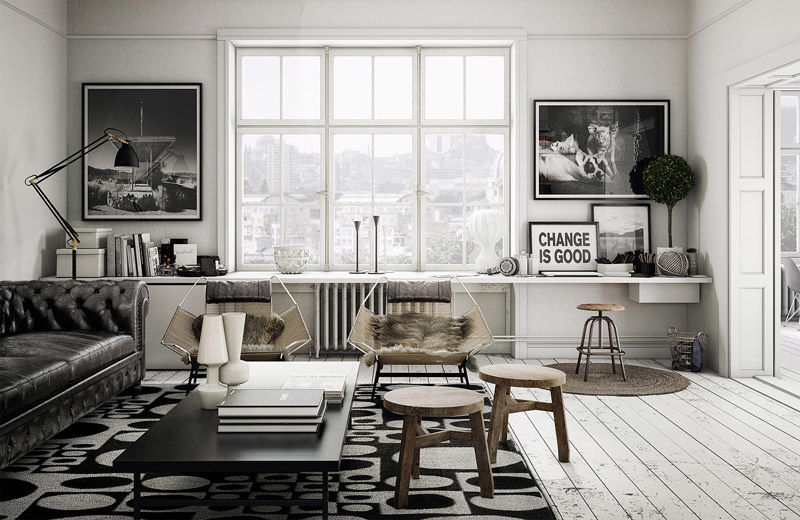 El color blanco y los tonos claros para decorar los interiores de inspiración nórdica