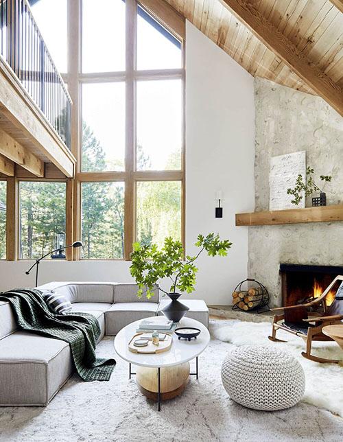 como decorar una casa rústica con toques modernos