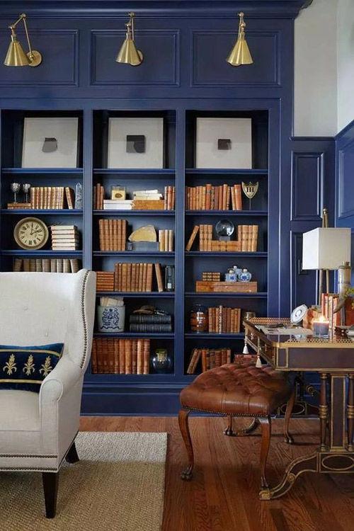 Salones pintados con color azul