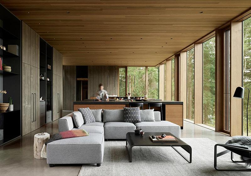 muebles de estilo nórdico en la decoración de una casa de campo