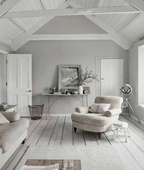 Tonos blancos y grises en la decoracion de interiores