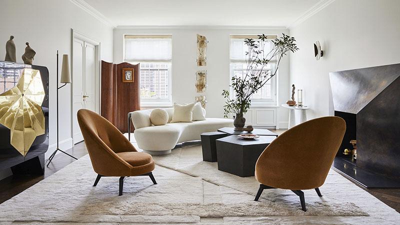 salón con muebles de estilo vintage
