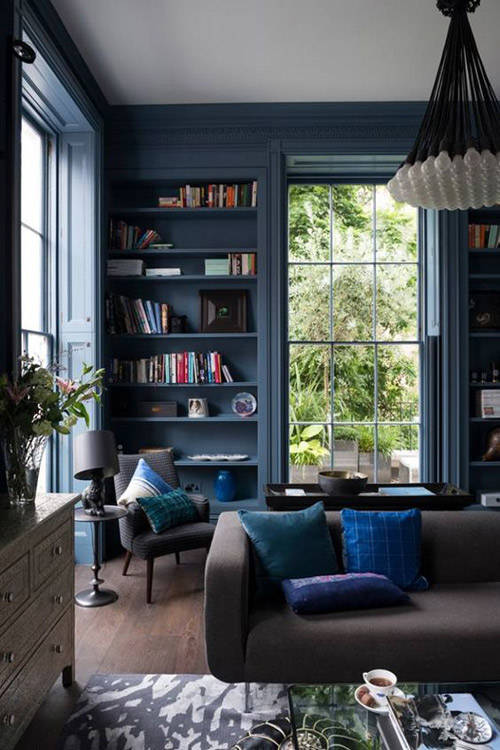 dark blue living rooms colores para salones 191 con cu 225 l me quedo nomadbubbles 16723