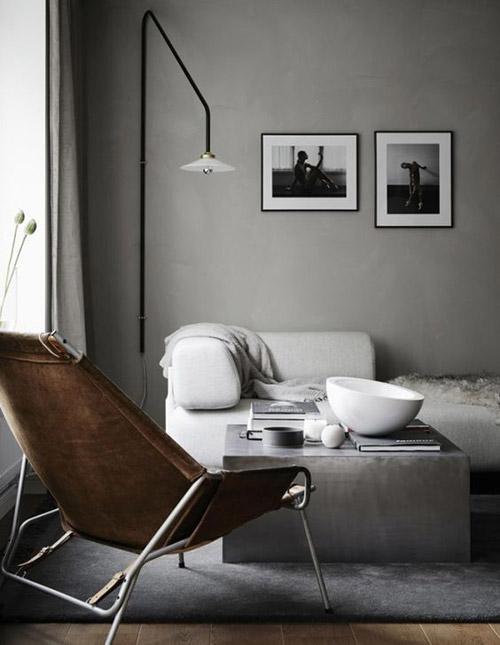 Paredes de salones pintadas de color gris
