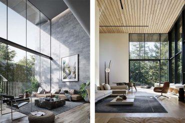 Salones de estilo y diseño moderno