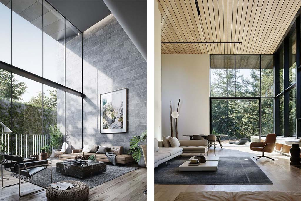 16 salones modernos que vas a querer para tu casa - Cortinas para salon estilo moderno ...
