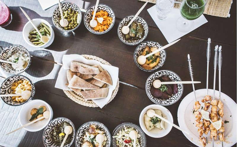 Scarabeo Camp comida tradicional marroquí