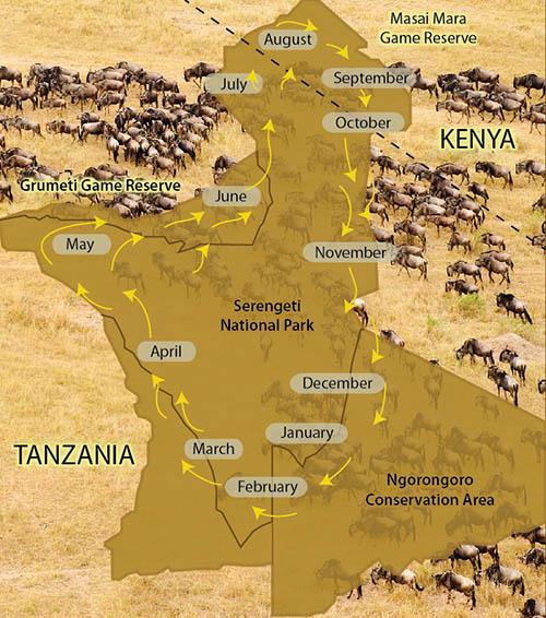 mapa de serengeti