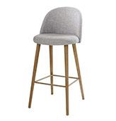 silla de bar vintage de color gris claro