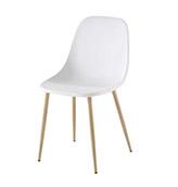 silla nórdica blanca con patas de madera
