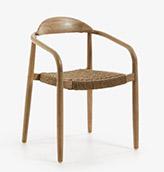 silla de madera tapizada con cuerda