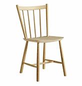 silla de madera de roble claro