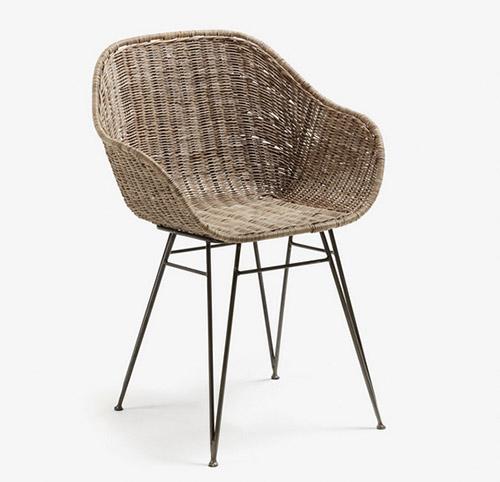 silla de ratan natural