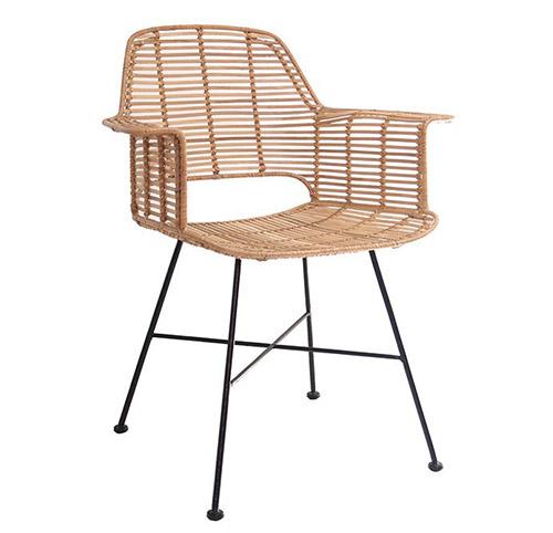 silla de comedor de ratan natural