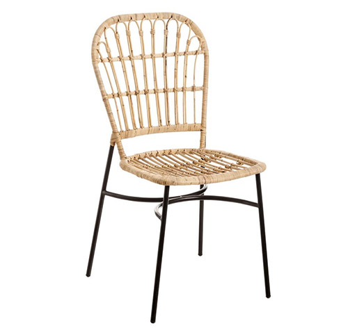 silla de ratan natural para comedores