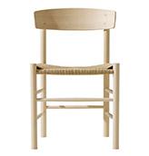 silla de madera de diseño nórdico