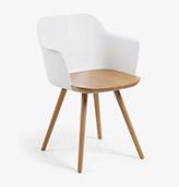 silla de estilo nórdico con patas de madera