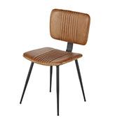 silla acolchada de piel de estilo vintage industrial
