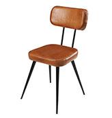 silla acolchada de piel y metal de estilo vintage industrial