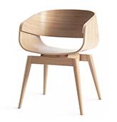 silla de madera de diseño escandinavo vintage