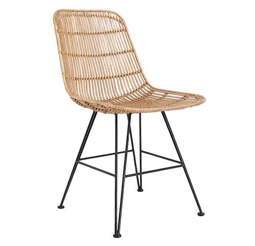 silla de ratán de comedor