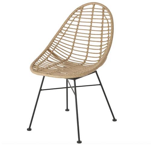 silla de comedor de mimbre