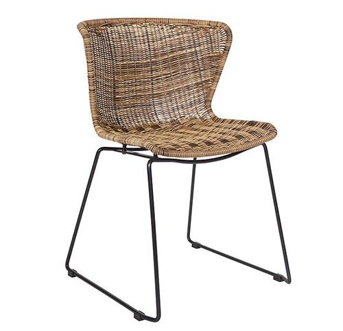 silla de comedor de ratan sintético