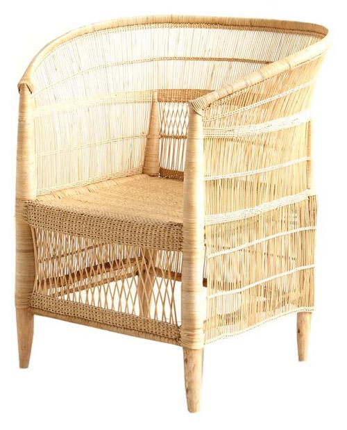 silla colonial africana de rattan