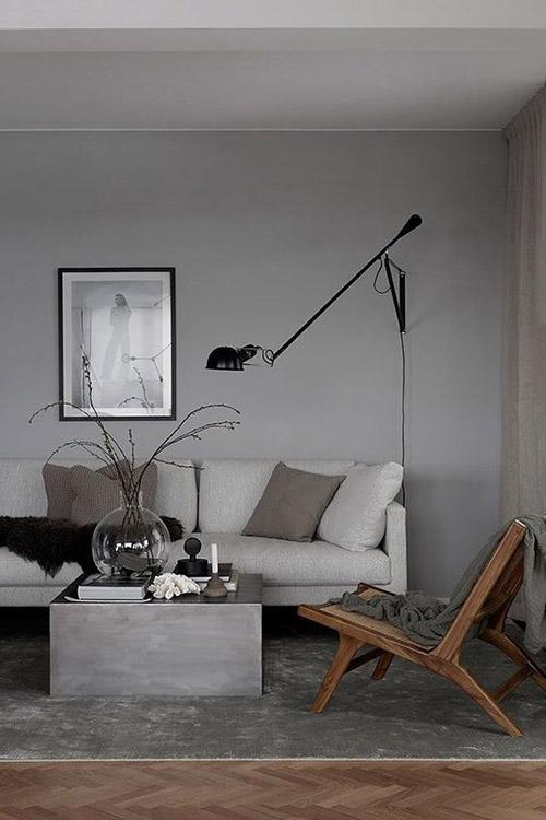 Colores grises para pintar las paredes de los salones