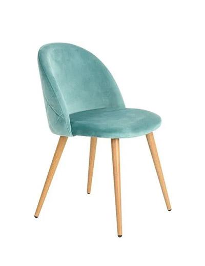 silla terciopelo verde agua