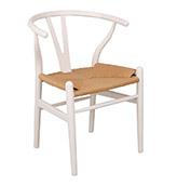 silla de madera de color blanco
