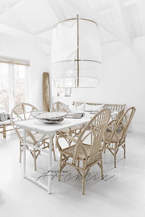 muebles de bambú para una decoración natural